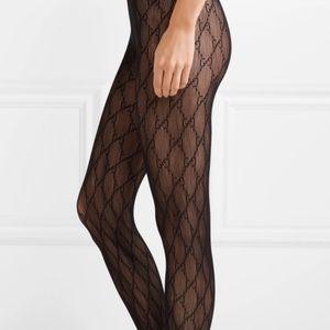 Gucci black logo tights